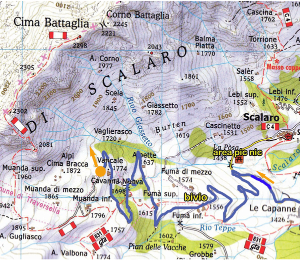 The routes established by Roberto Sgubin & co on Prej d'le Stejle (parete delle Selle), Cima Battaglia, Vallone di Scalaro, Piemonte, Roberto Sgubin