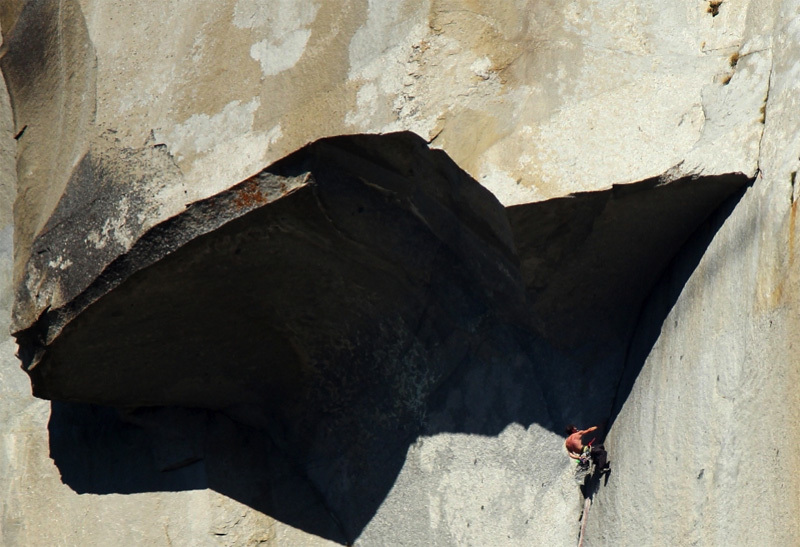 Alex Honnold beneath the Great Roof., Tom Evans