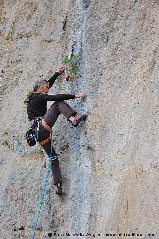 Lynn Hill at Fish Crag, Maurizio Oviglia