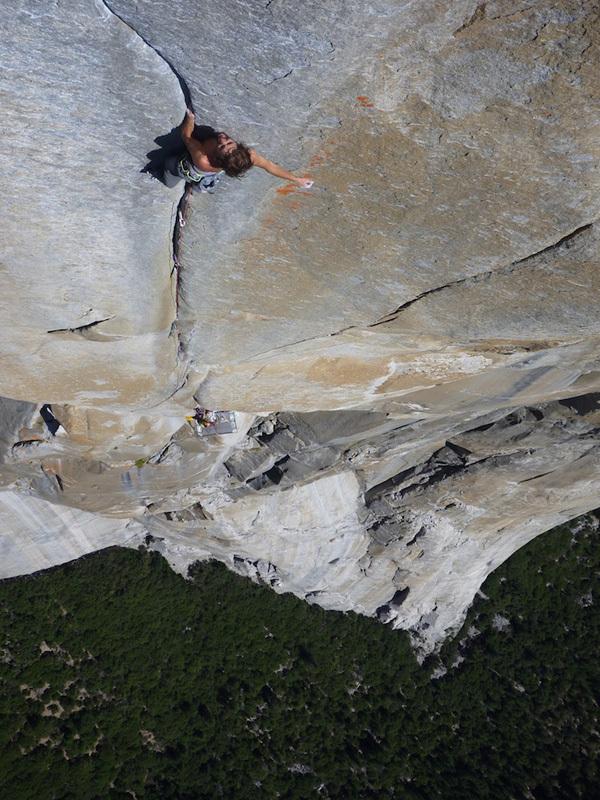 Nico Favresse sulla headwall di The Salathe Wall, El Capitan, Yosemite, archive Nico Favresse