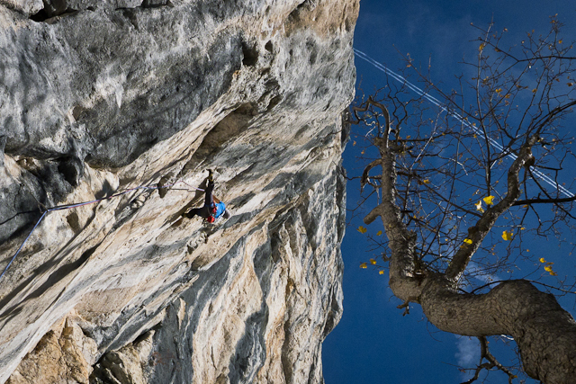 David Lama repeating Stoamanndl 8b Sonnwand, Austria, archivio Lama