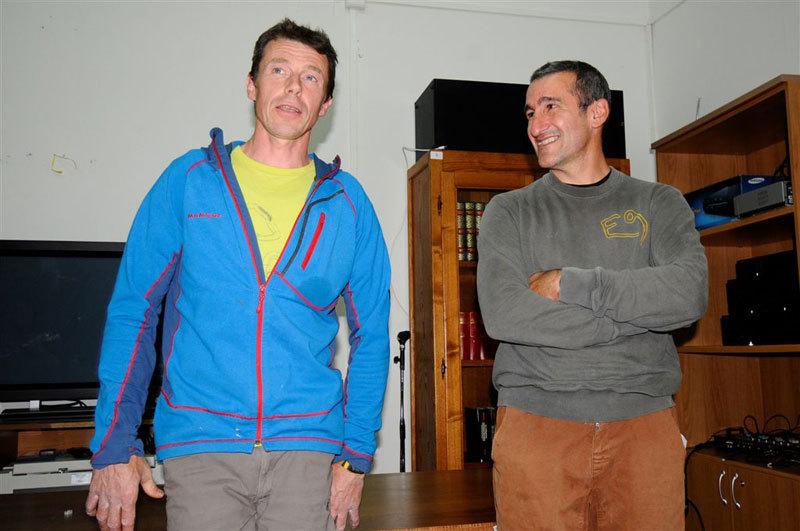 Luca Giupponi e Maurizio Oviglia al 6° meeting L'acqua e la roccia di Roccadoria Monteleone, Italo Chessa