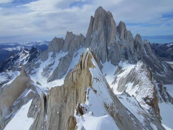 The splendid view onto the Fitz Roy massif., Colin Haley