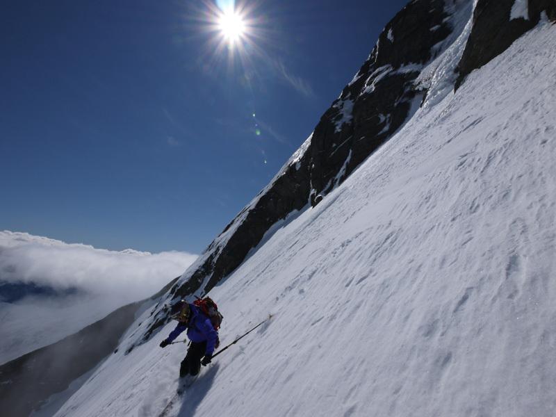 Sci ripido sul Mt Aspiring, Nuova Zelanda, Patrick Poletto