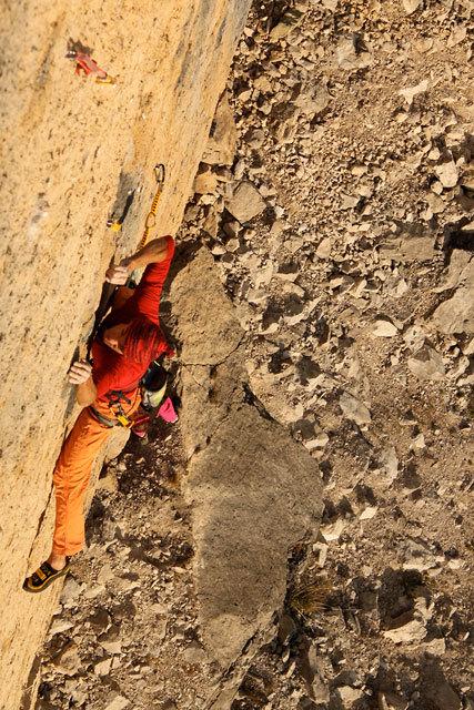 Manolo climbing at Bilico, Val Canali, Dolomites, Cristina Zorzi