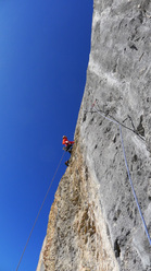 Reto Ruhstaller on pitch 3 of Ben Hur, Wendenstöcke
