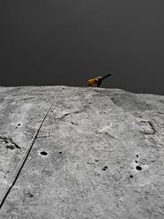 David Lama su Woher Kompass, 8a+ 120m, Waidringer Steinplatte, Austria