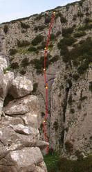 I sogni di 1 fratello, nuova via sulla Rocca Ramusa in Sicilia.