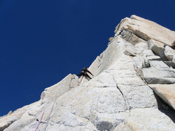 Climbing pitch 5