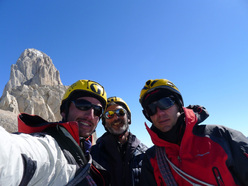 Cumbre! Damiano Barabino, Sergio De Leo and Marcello Sanguineti on the summit.