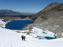 Salendo sopra Laguna de Los Tres