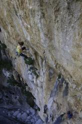 Barbara Zangerl su Hotel Supramonte (400m, 8b), Gola di Gorroppu, Sardegna.