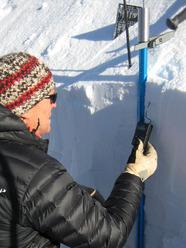 Misura temperature del manto nevoso