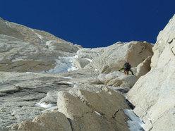 Aguja Poincenot, Patagonia. Il primo tiro di misto