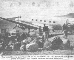 Spedizione 1962 - Arrivo sulle sponde del Lago Viedma