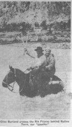 Spedizione 1962 -  Guado del Rio Fitz Roy