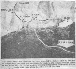 Spedizione 1962 - Tracciato via
