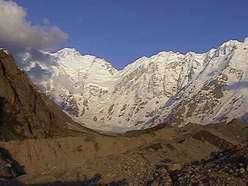 Nanga Parbat seen from the glacier