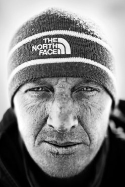 Denis Urubko immediately after the first winter ascent of Gasherbrum II