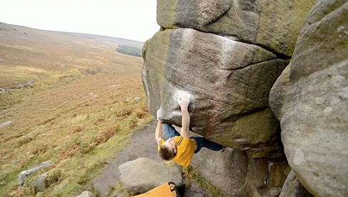 Chris Webb Parsons during his training on the gritstone at Burbage and in England's gyms.