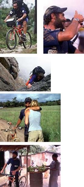 Diversi momenti del viaggio di Mike Horn, e l'incontro con la moglie Cathy in Gabon.