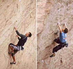 François Legrand & Yuji Hirayama su Just do it 5.14c Smith Rock, USA