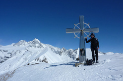 Figerhorn (2743m): on the summit, with Grossglockner in the background.