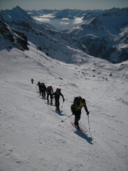 Langschneid (2688m): the final meters to reach the summit