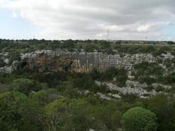 Climbing at Pandora, Sicily.