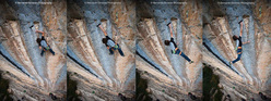 Adam Ondra su Three Degrees of Separation 9a (Chris Sharma 2007, Ceuse, France)