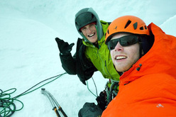 Hayden Kennedy and Jason Kruk on the summit of Torre Egger, December 2012.