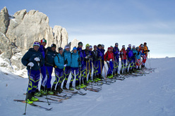 The Italian ski mountaineering squad