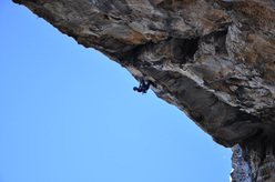 Klemen Becan climbing at Archidona (Spain)