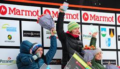 Women's podium: Maria Tolokonina, Anna Gallyamova, Angelika Rainer