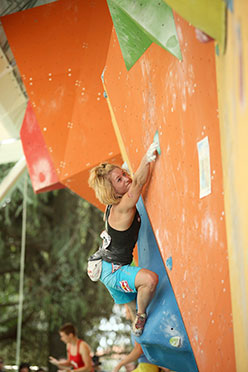 Natalija Gros competing in the World Championship 2012 at Arco