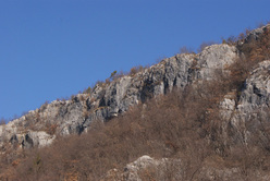 The crag Villanuova close to Udine, Italy
