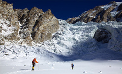 Simone Moro and Denis Urubko during their attempt at making the first winter ascent of Nanga Parbat.