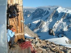 Resting at the Plamer Hut