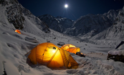 Simone Moro and Denis Urubko during their attempt at the first winter ascent of Nanga Parbat.