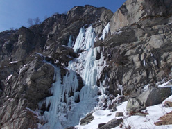 The Balma Massiet icefall in Vallone di Sea