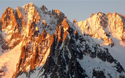 The SE Face of Aiguille du Moine (Mont Blanc).