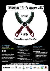 """Il 13 e 14/10 a Chiomonte (TO, Val di Susa) si svolgerà la terza edizione del raduno boulder all'insegna del """"Brush to climb"""" aperto a tutti gli arrampicatori liberi."""