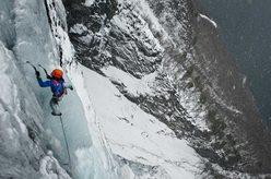 Ines Papert during the first ascent of Sea Gull Jonathan WI 6