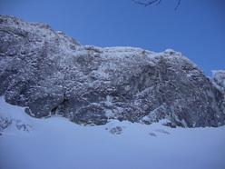Tubular Bells 20m, III WI5+/6 M5, Grotta delle Ciaole, Campitello Matese.