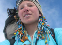 The talented Ukranian mountaineer Maria Khitrikova.
