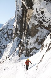 The big ledge under the last pitch of Headwall attack