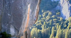 Dean Potter soling the Rostrum in Yosemite