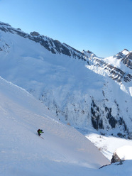Wim Pasquier on the Pointe d'Aufalle Shoulder 22.2.2012