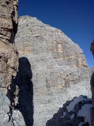 La Pala sud dalla cima della Torre Bonafede-Giustina, Gruppo del Monte Pelmo, Dolomiti.
