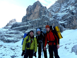 Rolando Larcher, Fabio Leoni and Luca Giupponi and Cima Margherita, Brenta Dolomites.
